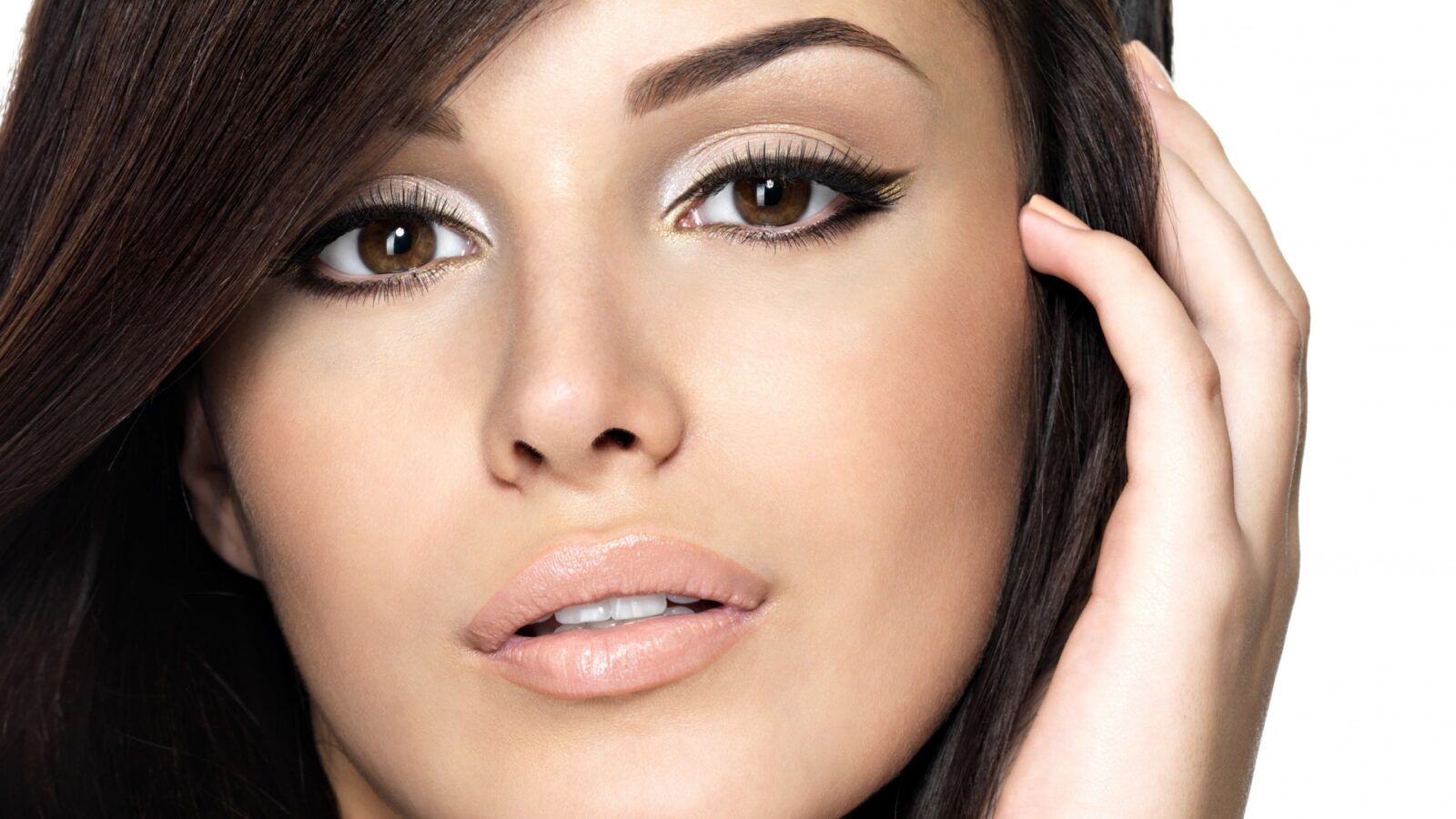 Лучший макияж для карих глаз брюнеток фото