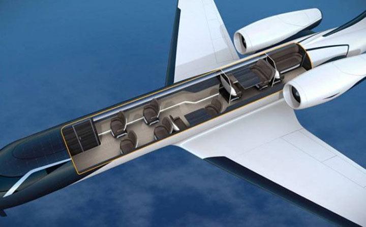 """Создан """"прозрачный"""" самолет. Море впечатлений для пассажиров!"""