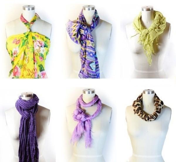 Женский шарф - самый популярный аксессуар! 58 образов