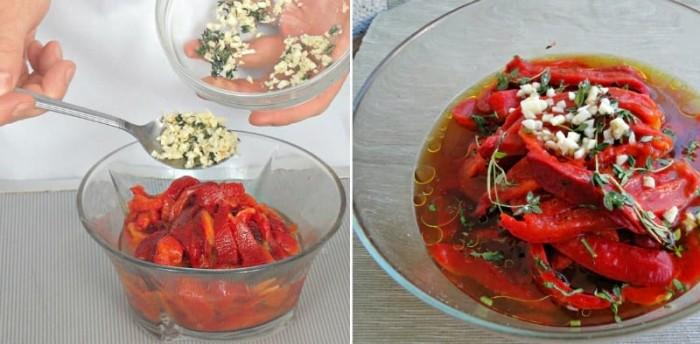 Закуска-салат из болгарских перцев: очень вкусно!
