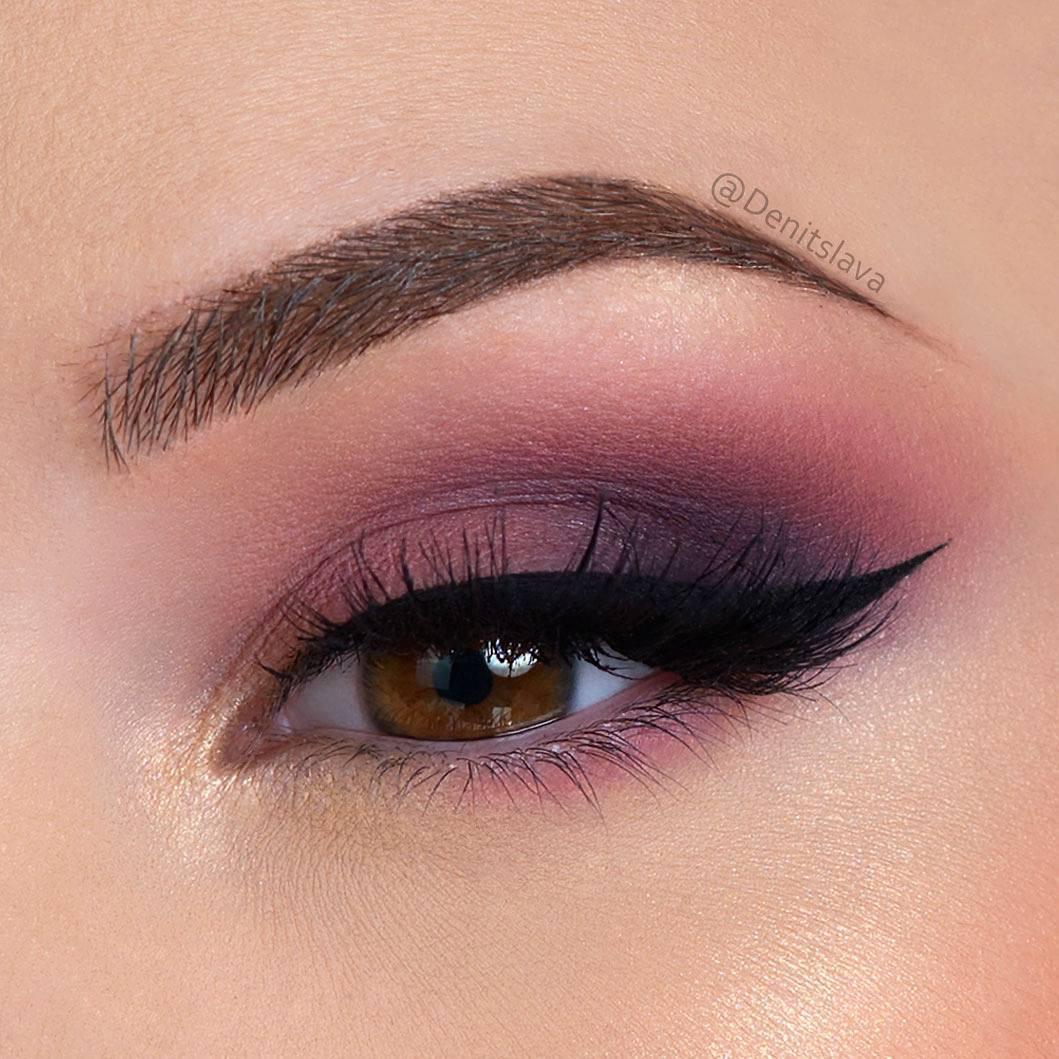 Маленькие карие глаза макияж фото