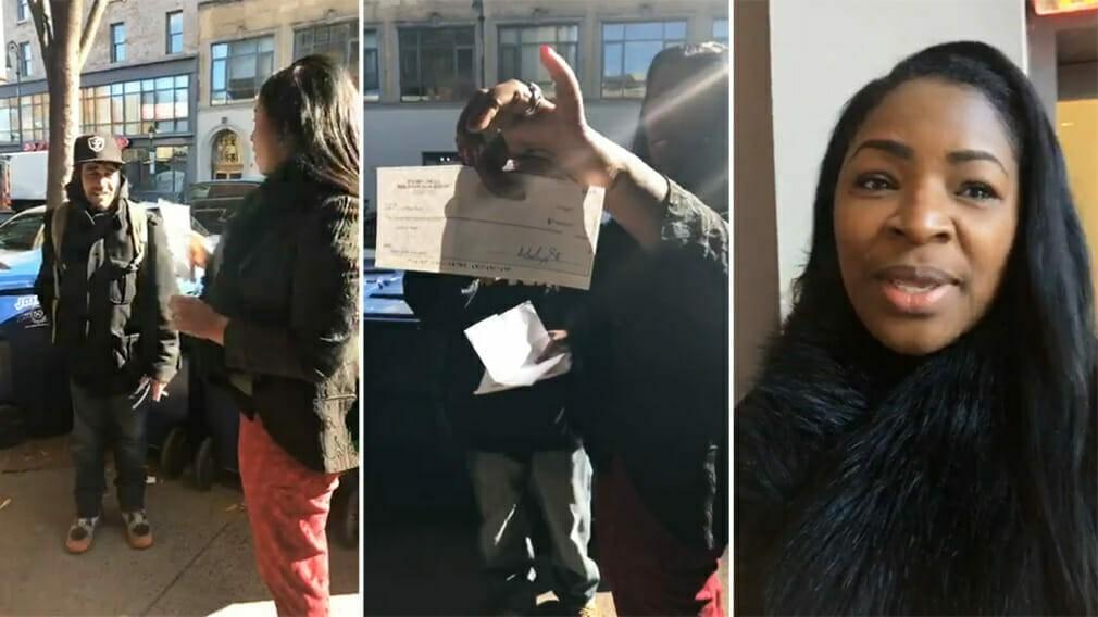 Бездомный вернул 10 000 долларов, которые нашёл.