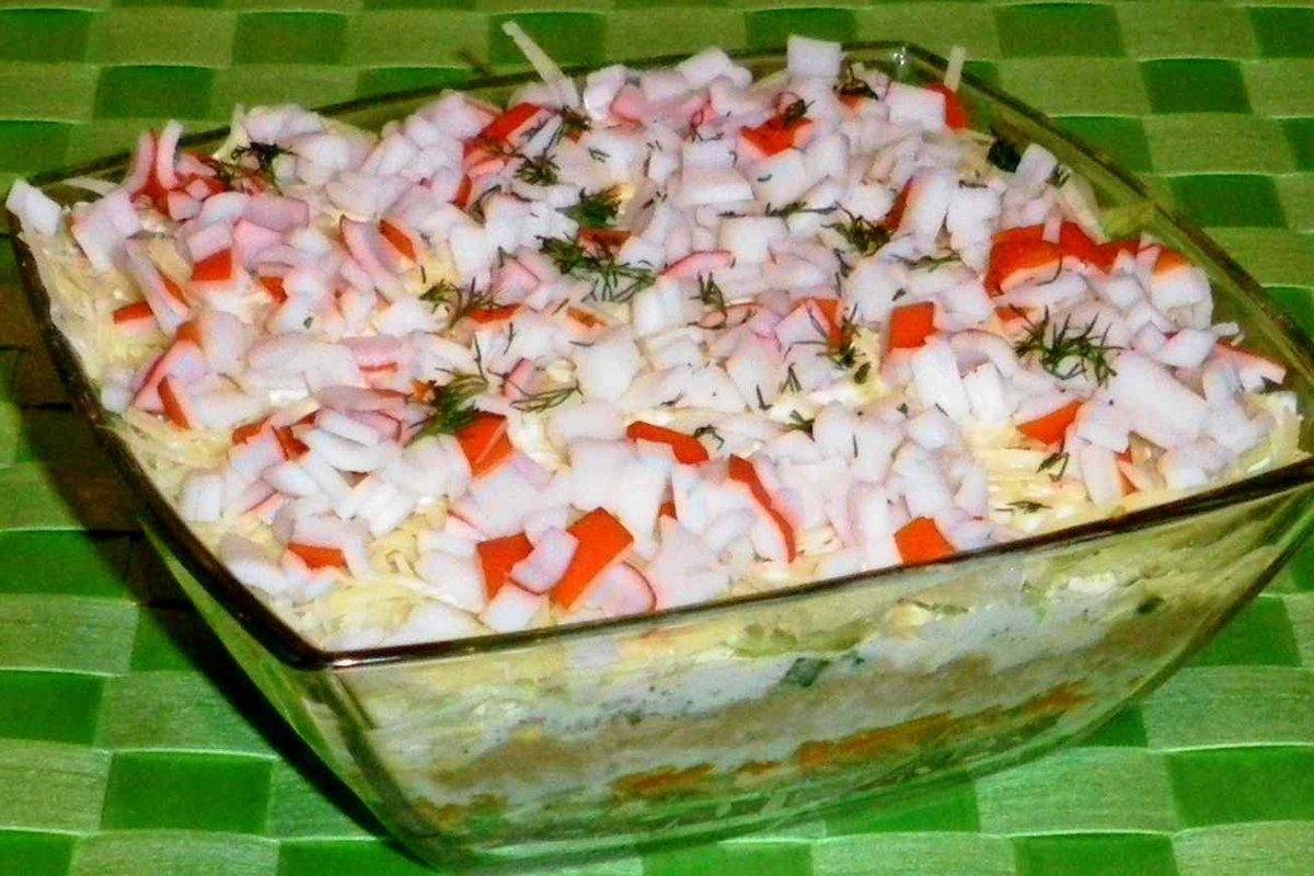 Эффектный и очень вкусный - салат Коралловый Риф