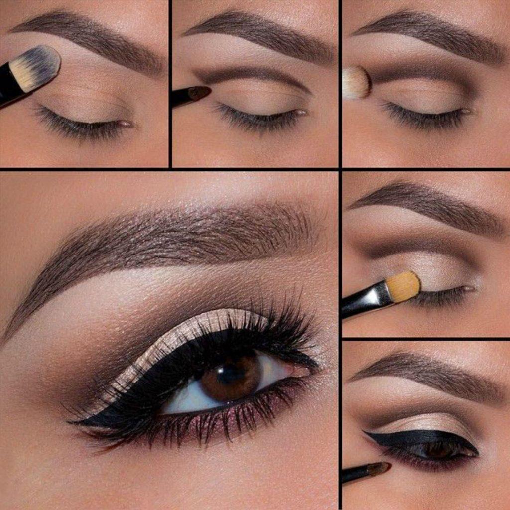 Макияж глаз для карих миндалевидных глаз