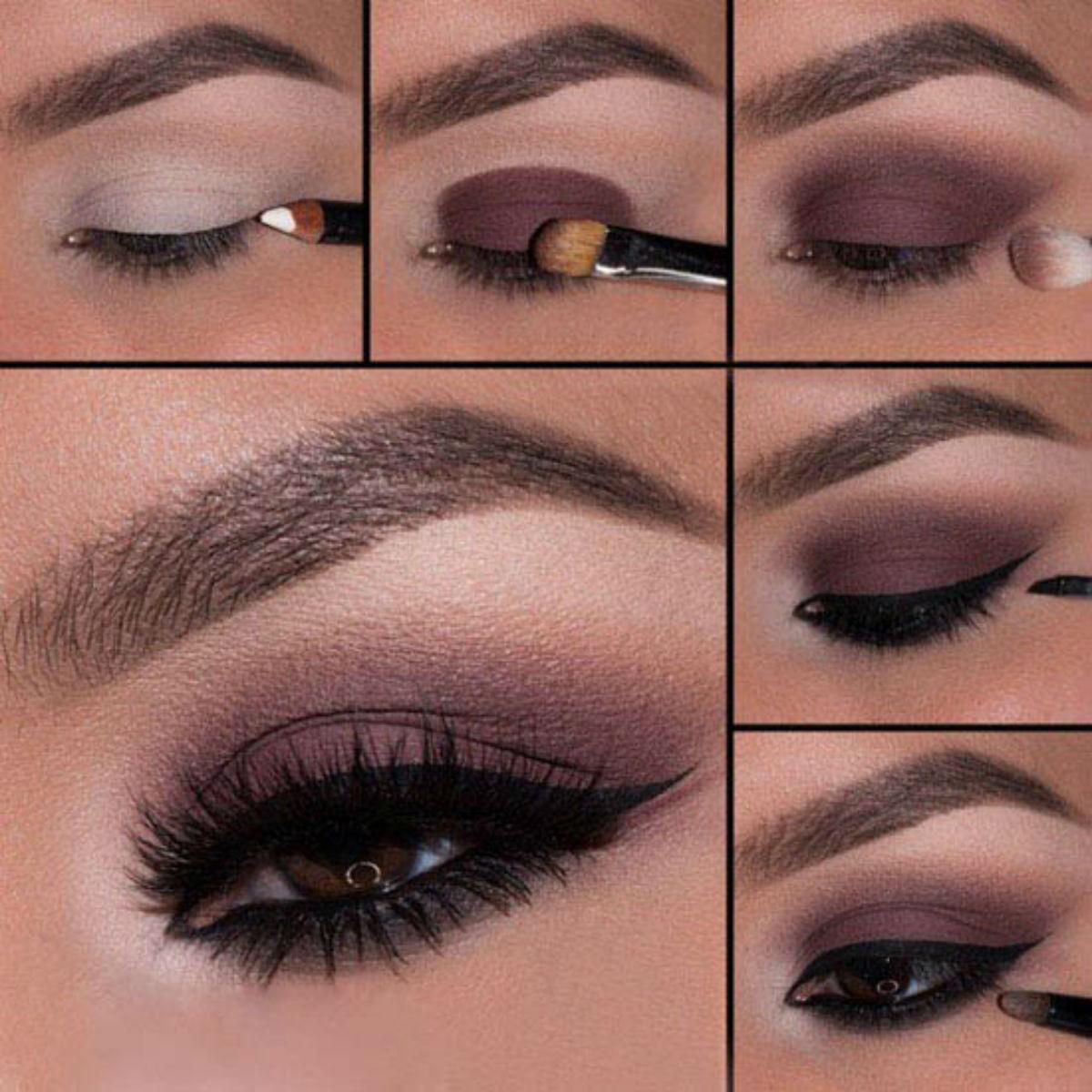 Как сделать красивый макияж для карих глаз