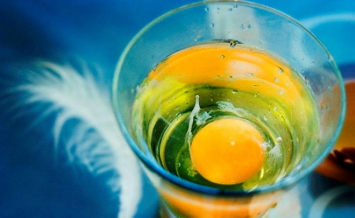 Снятие негатива с помощью сырого яйца