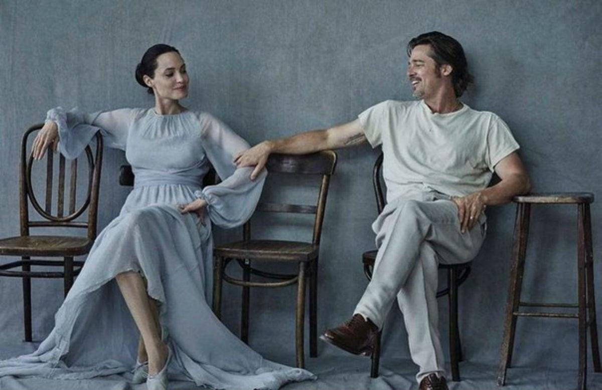 Анджелина Джоли и Брэд Питт появились в очень нежной и красивой фотосессии