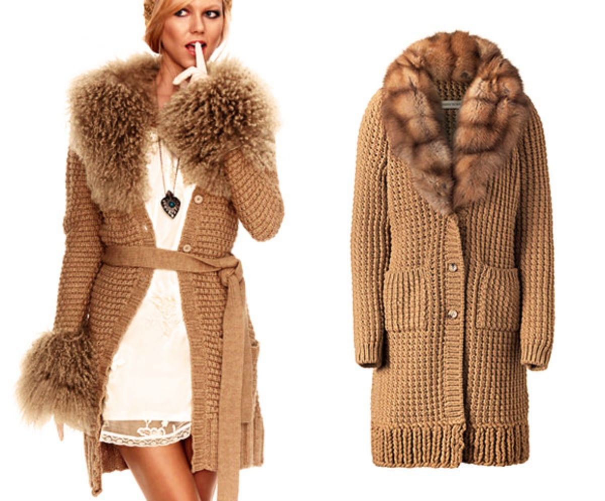 вязаное пальто сезона 2018 2019 модные фасоны и декоративные элементы