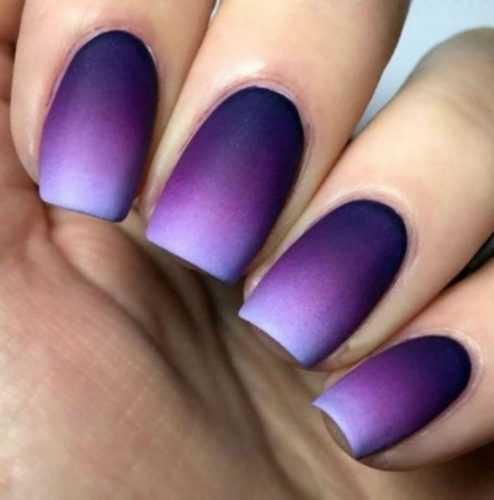 Роскошный фиолет, самый трендовый цвет маникюра 2018