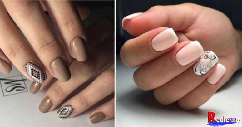 Маникюр с дизайном на одном пальце