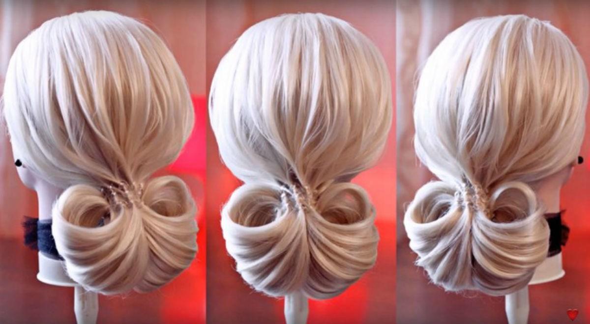 Классные причёски при помощи обычной резинки для волос.