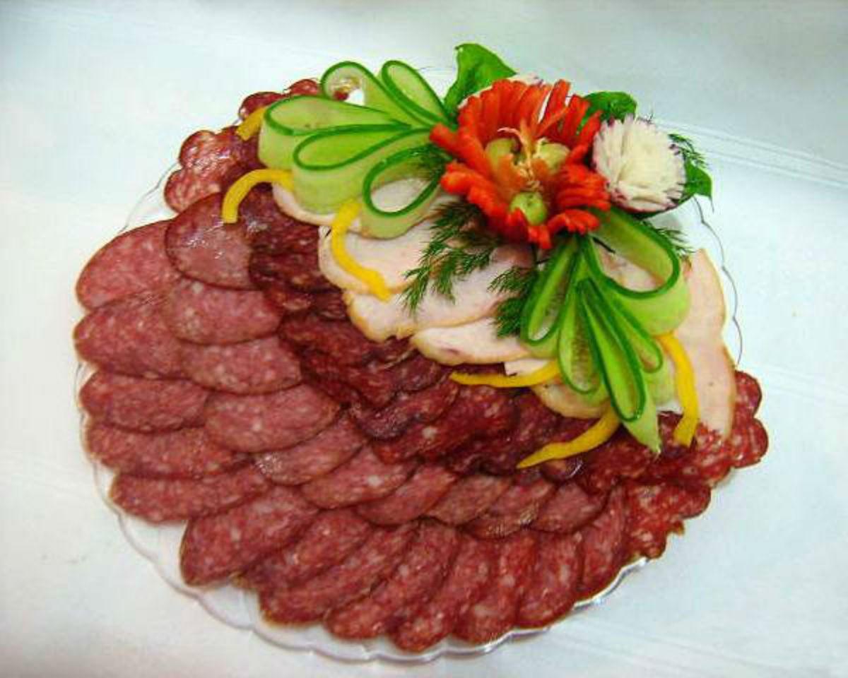 ведающая пошаговая схема выкладки нарезки мяса фото конце марта